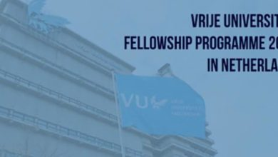 Vrije Universiteit Fellowship Programme in Netherlands 2018