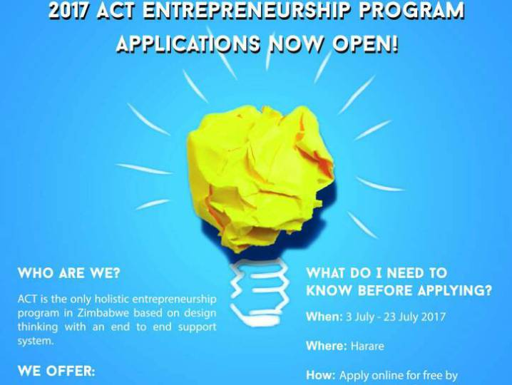 2017 Act Entrepreneurship Program for Zimbabweans