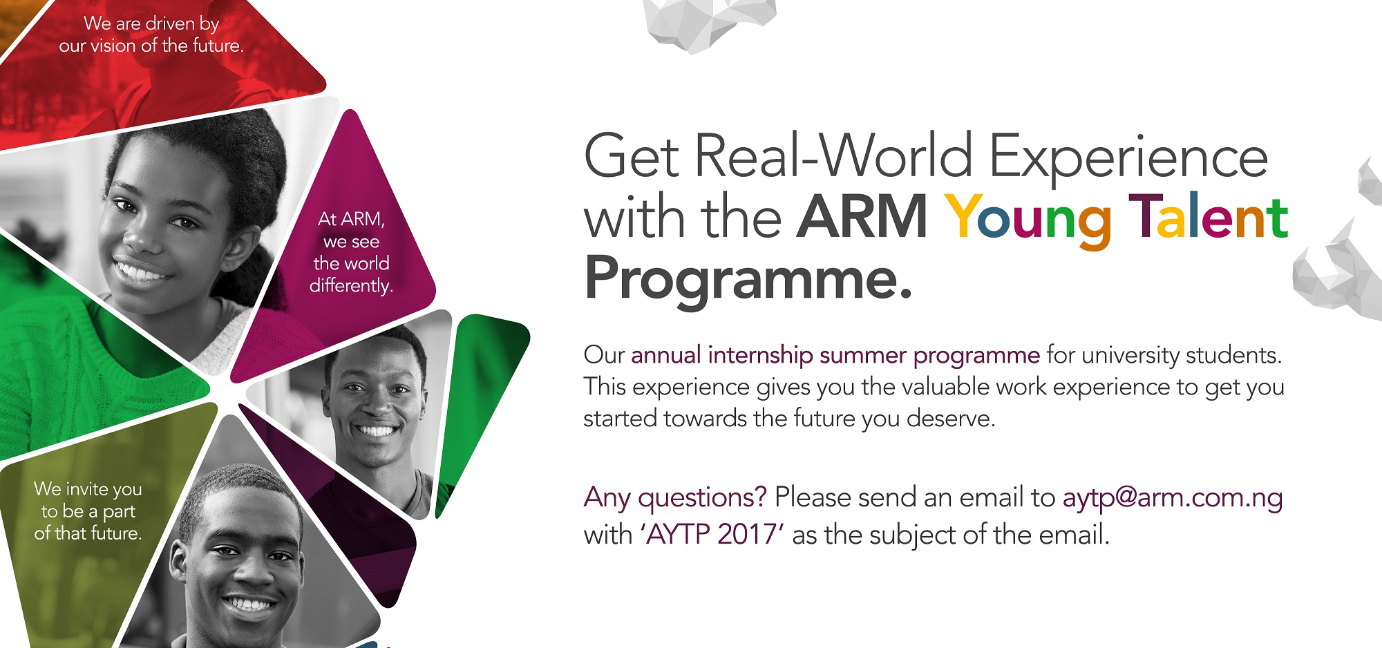 ARM Young Talent Programme (AYTP) 2017