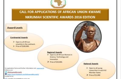 Opportunity For Zimbabwean Youth: African Union Kwame Nkrumah Scientific Awards 2016 Edition