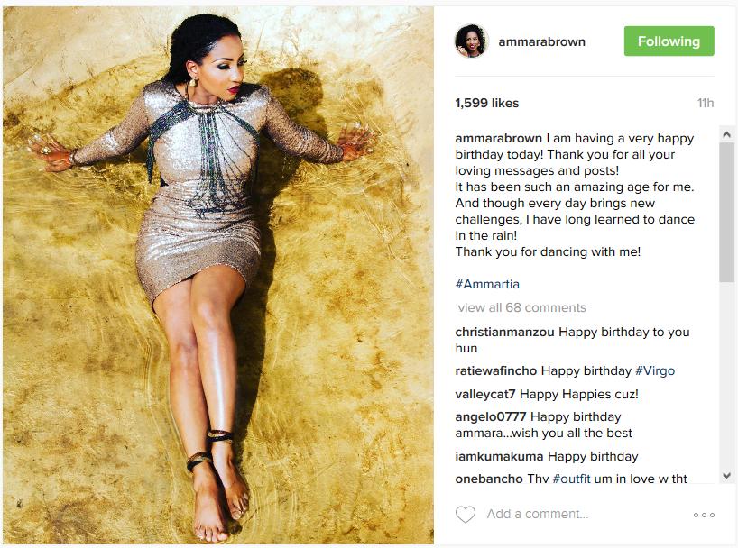 Ammara Brown Celebrates 28th Birthday