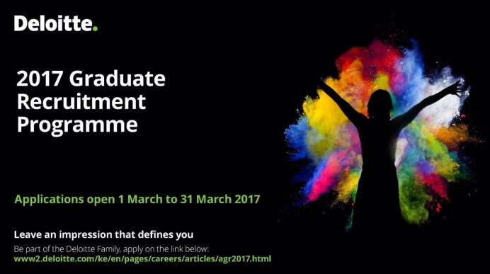 Apply: Deloitte 2017 Graduate Recruitment Programme