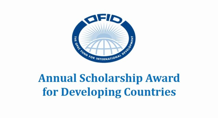 Apply: OFID Annual Scholarship Award