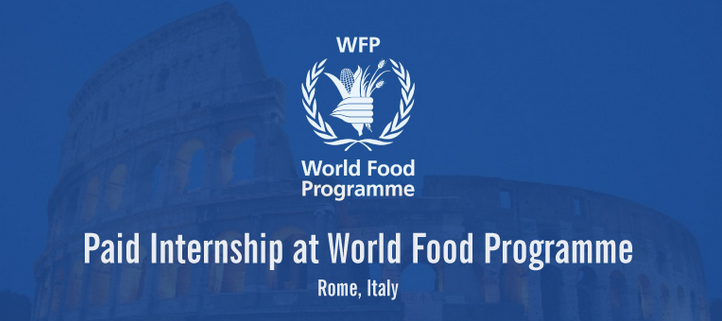 Apply: Paid Internship at World Food Programme in Rome, Italy