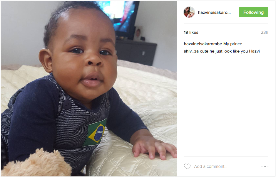 Aww!! Hazvinei Sakarombe's Baby Is Growing Big. Check Out His Recent Pic Here