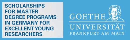 Goethe University's Master Scholarship Programme 2017/2018