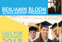 Benjamin Bloom Scholarship 2018