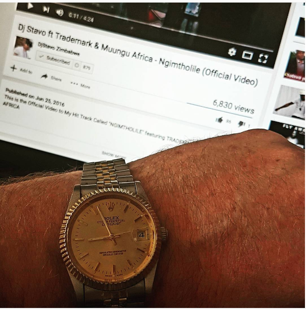 Dj Stavo Shows Off His Rolex Watch
