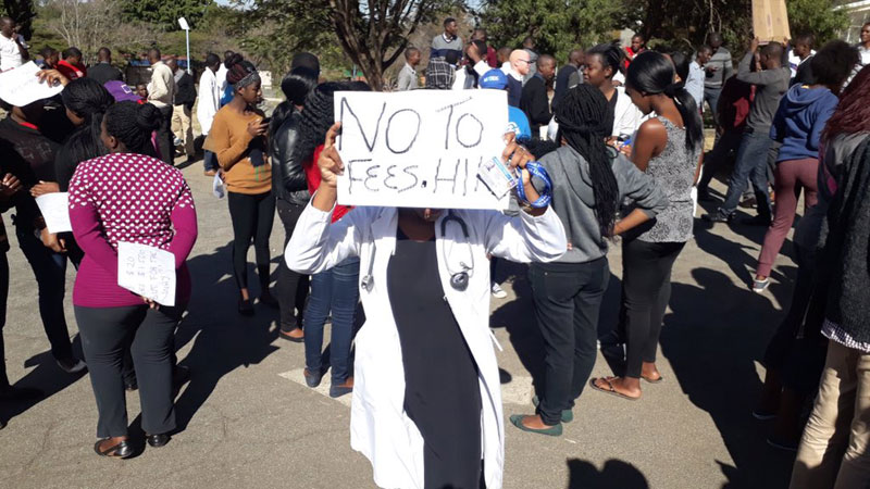 UZ Students Protest Against Fees Increase