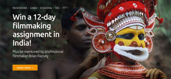 World Nomad Travel Film Scholarship Program in India 2017