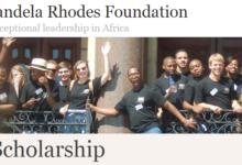 Mandela Rhodes Foundation Post-graduate Scholarship for Africans 2018