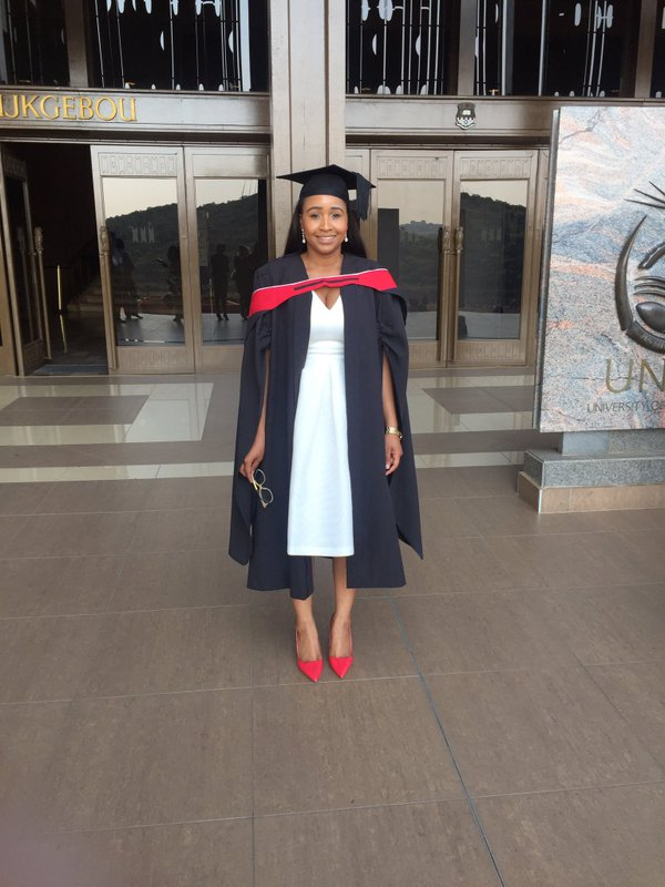 Maneta From BBA Graduated With Honors In Law