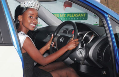 Miss Mt Pleasant Gets Prize Car