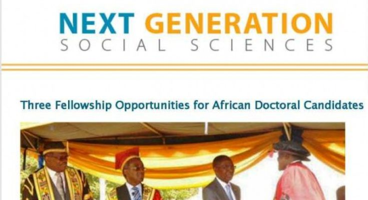 Next Generation Social Science in Africa Fellowship 2017/2018