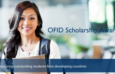 OFID is now accepting applications for its 2017/2018 Scholarship