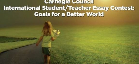 carnegie council international student/teacher essay contest