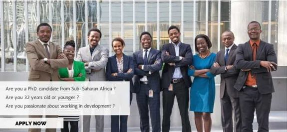 World Bank Group Africa Fellowship Program for 2018
