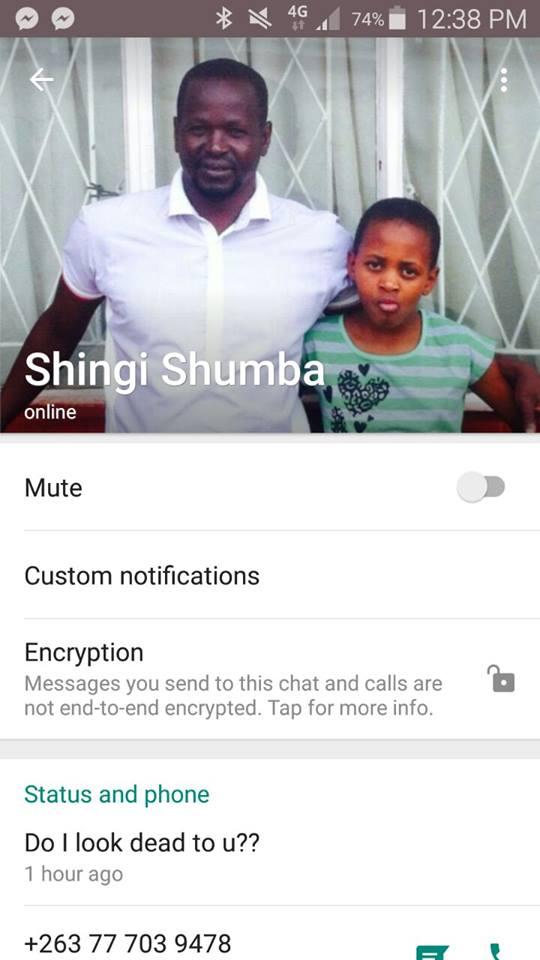 Shingi Kawondera Rubbishes Death Reports