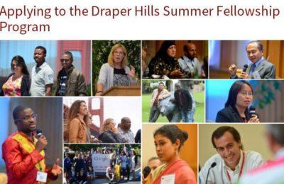 Draper Hills Summer Fellows Program 2018 at Stanford University