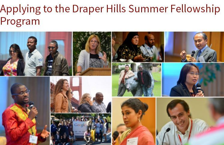 Draper Hills Summer Fellows Program 2018 at Stanford University