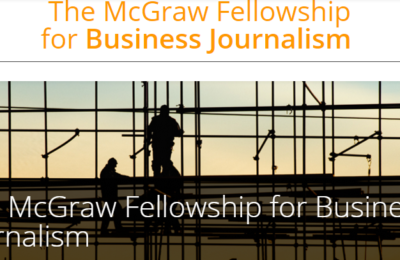 McGraw Fellowship for Business Journalism 2017