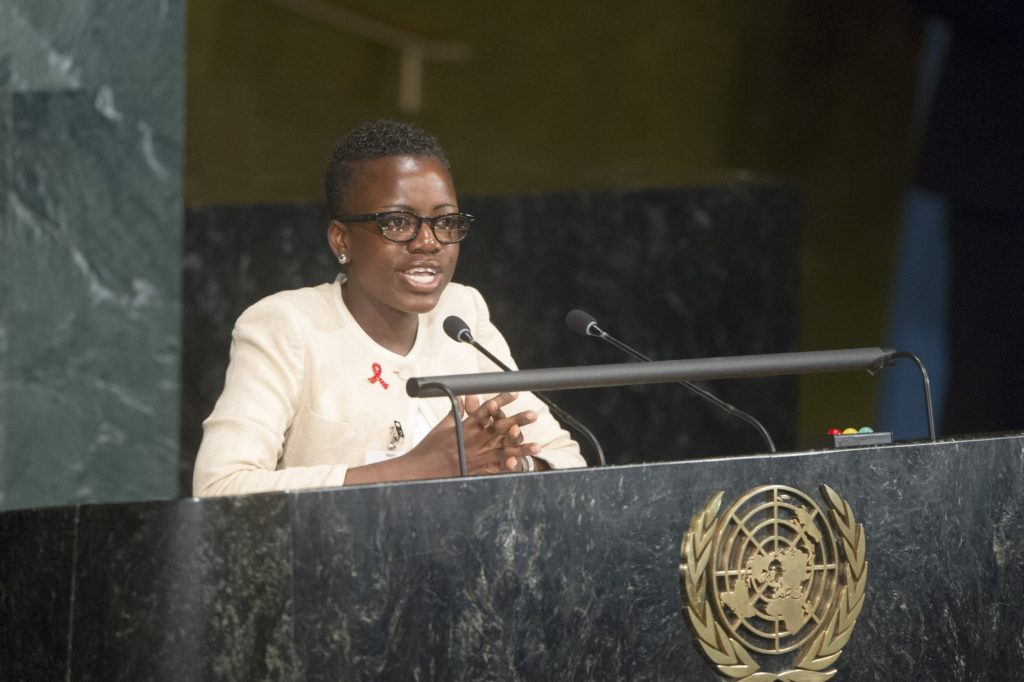 Loyce Maturu (Zimbabwe), nominated by HLM Stakeholder Task Force, addresses the High-level meeting of the General Assembly on HIV/AIDS Implementation of the Declaration of Commitment on HIV/AIDS and the political declarations on HIV/AIDS