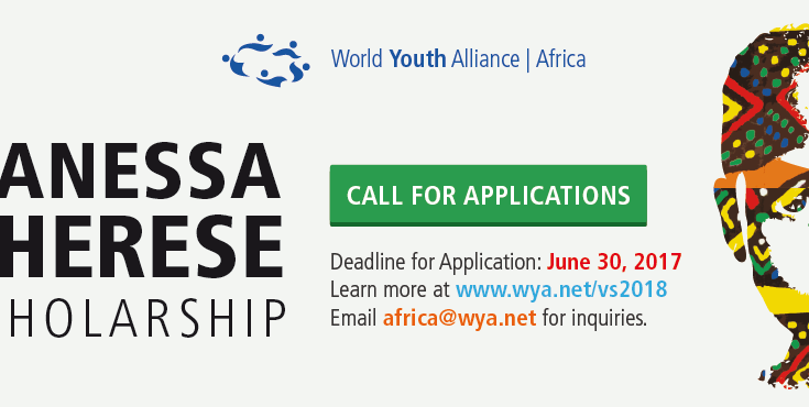 World Youth Alliance (WYA) Africa Vanessa Cherese Scholarship 2018