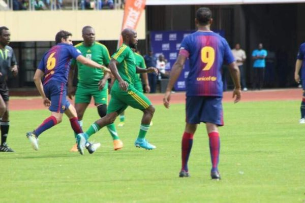 Zim Warriors and Barcelona Legends Draw 2-2