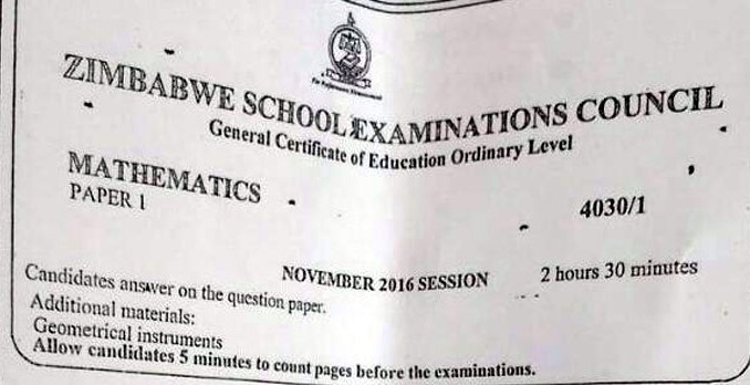 No Rewrite for Leaked Maths Paper: ZIMSEC
