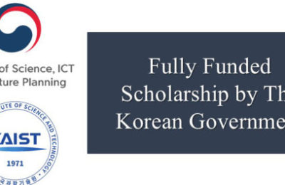 Fully Funded Scholarship by The Korean Government
