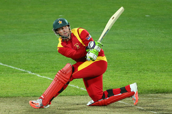 during the 2015 ICC Cricket World Cup match between Zimbabwe and Ireland at Bellerive Oval on March 7, 2015 in Hobart, Australia.