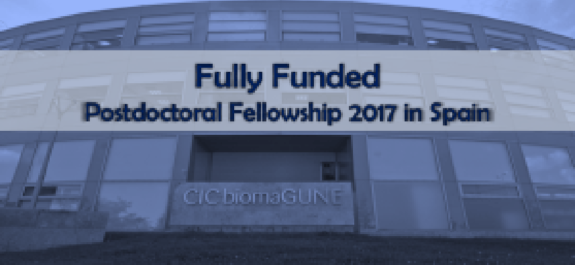 CIC biomaGUNE's Fully Funded Postdoctoral Fellowship in Spain 2017