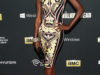 "Actress Danai Gurira arrives at the season 4 premiere of ""The Walking Dead"" at the AMC Universal Citywalk Stadium 19/IMAX on Thursday, Oct. 3, 2013 in Universal City, Calif. (Photo by Paul A. Hebert/Invision/AP)"