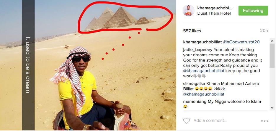 Khama Billiat Shares Pics From His Dubai Trip