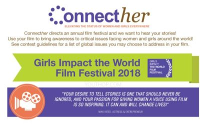 ConnectHer Girls Impact the world Film Festival Video Contest
