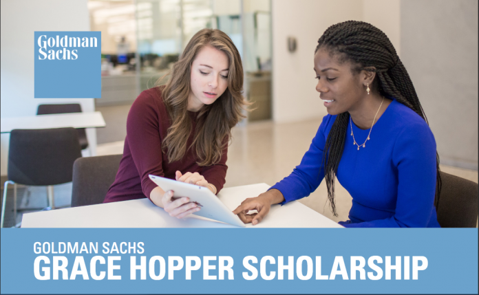 Goldman Sachs Grace Hopper Scholarship 2017 for Female Students