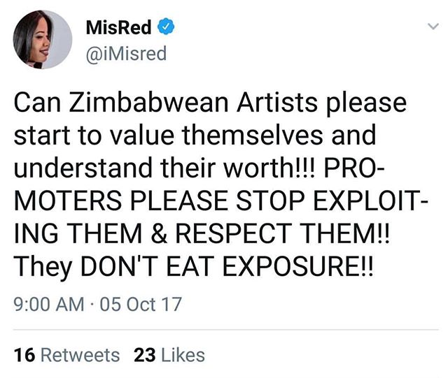 Misred Calls Out Promoters About Treatment Of Artists