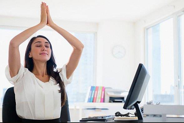 5 Yoga Poses You Can Do At The Office