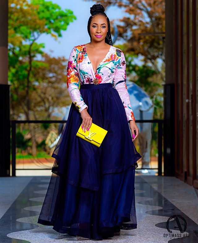 wcw pokello makes the best wedding guest in her dress