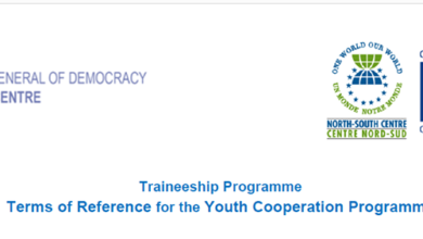 The North-South Centre of the Council of Europe Traineeship Programme 2019