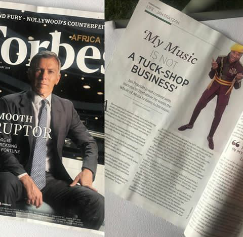 Jah Prayzah In Forbes Magazine Africa