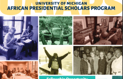 University of Michigan African Presidential Scholars Program 2018/2019