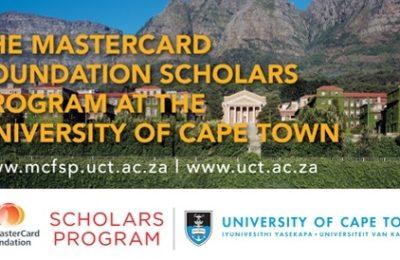 University of Cape Town MasterCard Foundation Scholars Program 2018