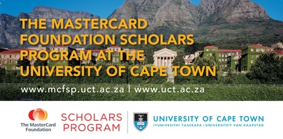University of Cape Town MasterCard Foundation Scholars Program 2018
