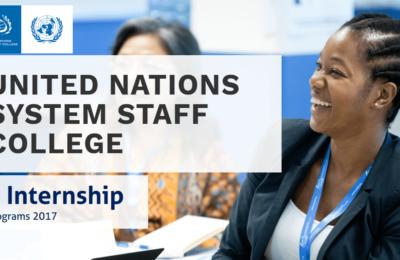 United Nations System Staff College (UNSSC) Internships 2017
