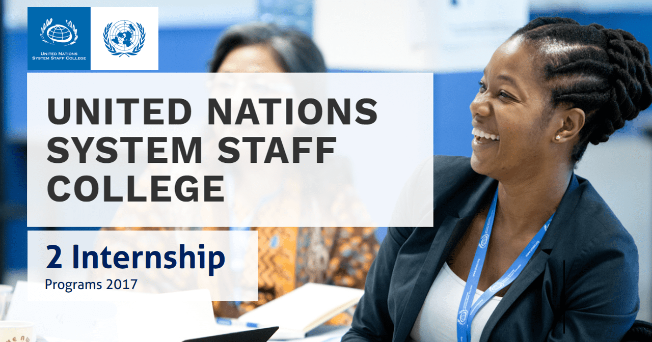 United Nations System Staff College (UNSSC) Internships 2017