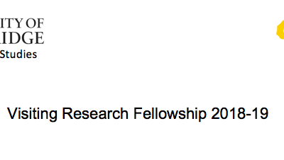 University of Cambridge Centre of African Studies Visiting Research Fellowships 2018/2019