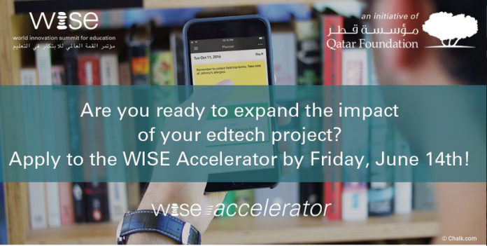 WISE Accelerator Program 2017/2018 for Education Technology Projects