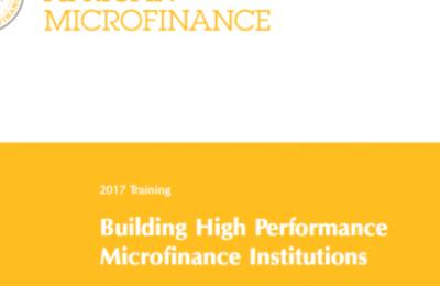 MasterCard Foundation Microfinance Scholars program 2017