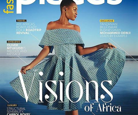 Miss Tourism Zimbabwe On The Cover Of Fastjet's new Places Magazine